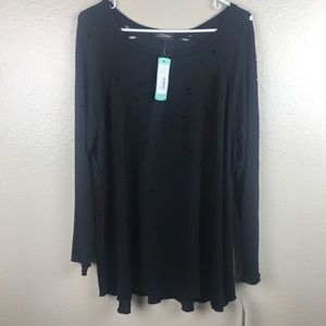 Stitch Fix Tops - NWT Stitch Fix Colette Dalen Distressed Detail Top